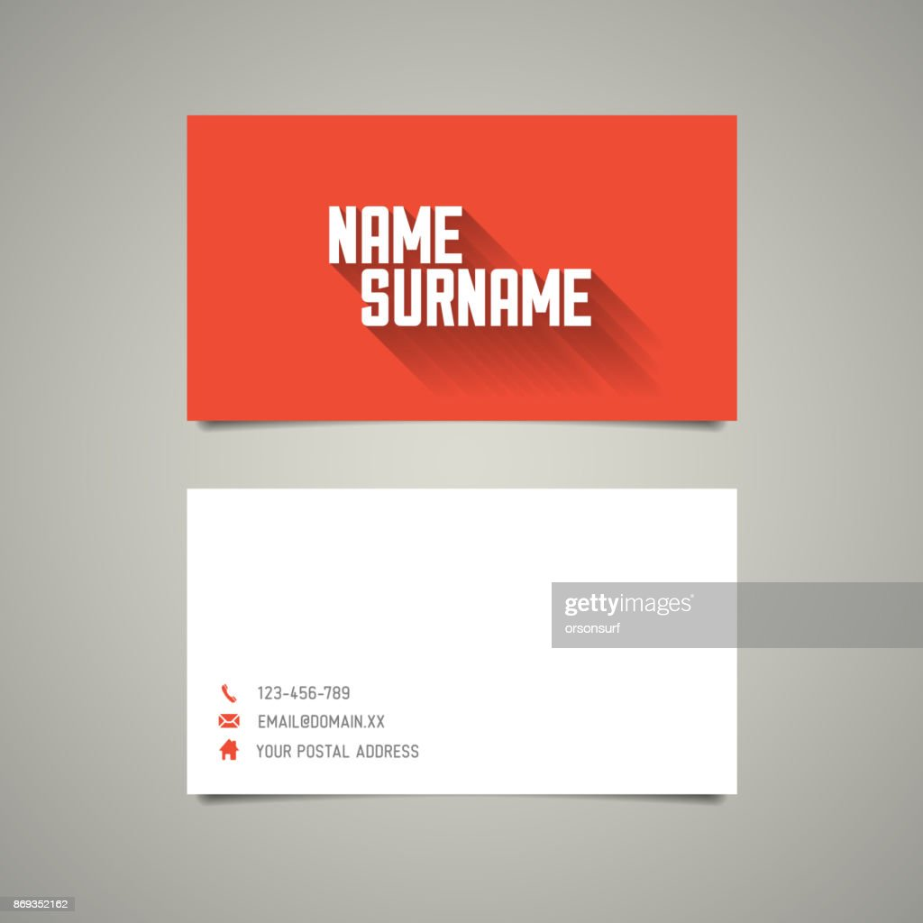 Modern simple business card template with long shadow effect vector modern simple business card template with long shadow effect vector art colourmoves