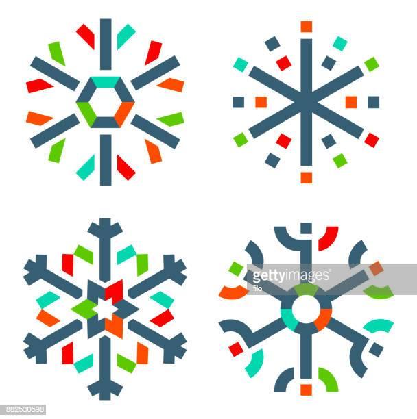 Moderne Schneeflocken