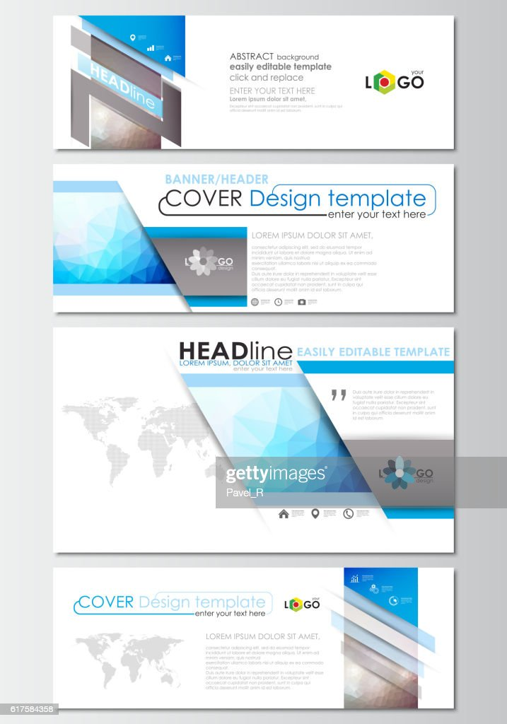 Modern social media banners, email headers. Business templates. Cover design