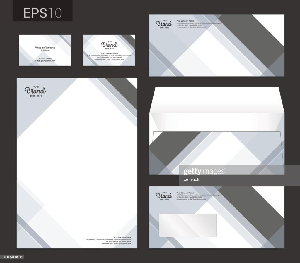 Modern stationery set in vector format letterhead business card modern stationery set in vector format letterhead business card envelope vector art reheart Choice Image