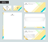 Modern stationery set in vector format