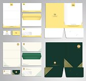 Modern stationery set pattern in vector format