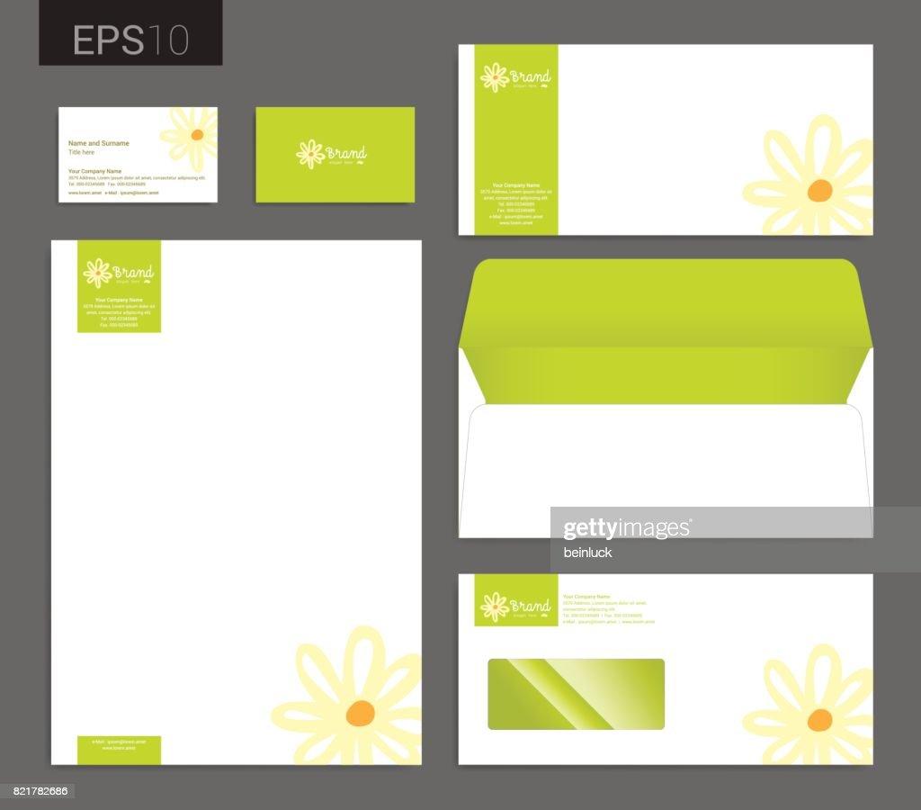 Modern Stationery Vector Format Letterhead Business Card Envelope ...