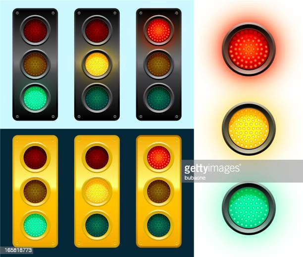 led modern street traffic lights background - stoplight stock illustrations
