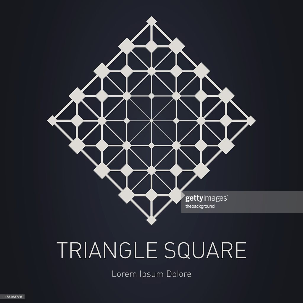 Modern stylish logo or Design element with squares, triangles