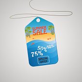 Modern summer sale tag. Discount poster with special offer.