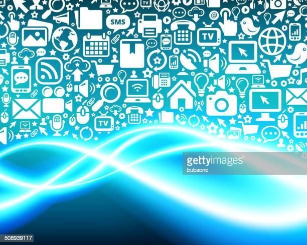 Fundo de tecnologia moderna de comunicação & COLEÇÃO
