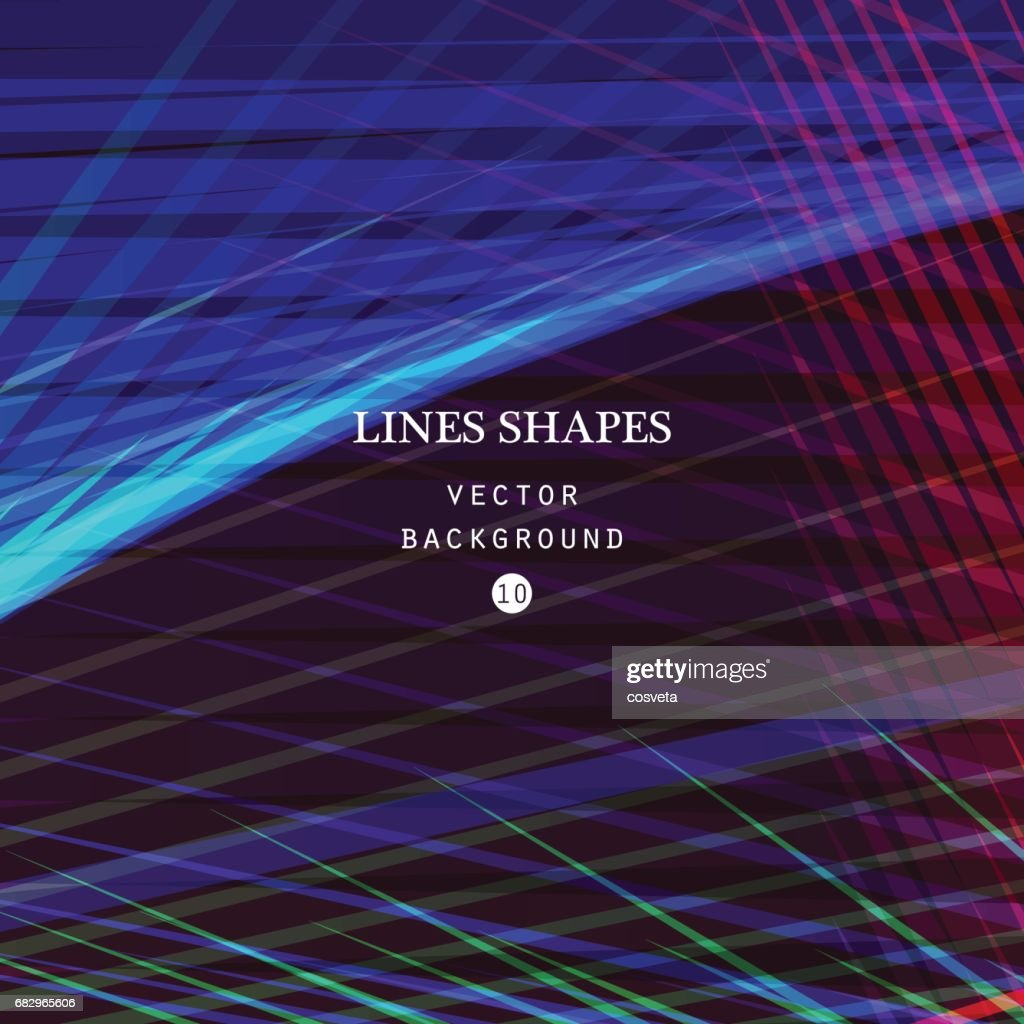 Modern technology striped abstract background vector. Colorful stripes