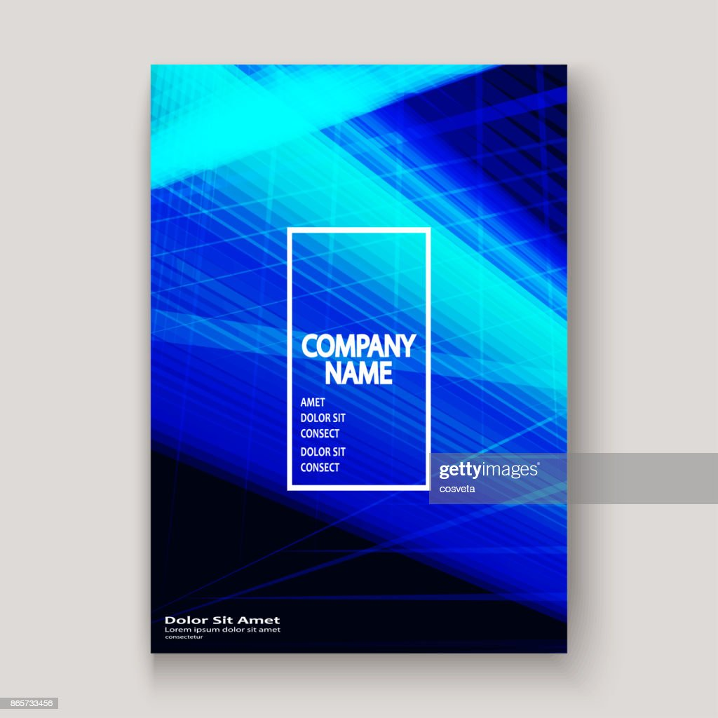 Moderne Technik Gestreiften Abstract Umfasst Design Blau Neon Linien ...