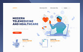 Modern Telemedicine and Healthcare Frontpage Template
