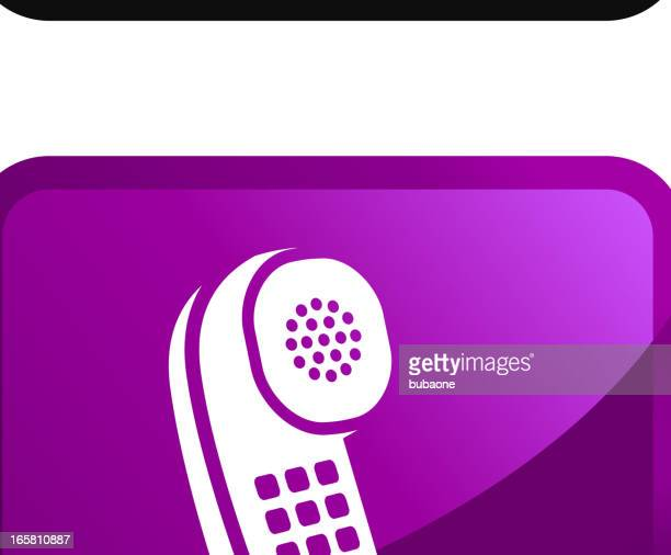Modern telephone Technology royalty free vector icon set stickers