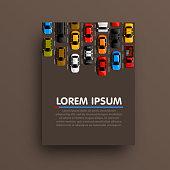 Modern transport vertical banners. Road flyer set. Traffic jam infographics. template design element.