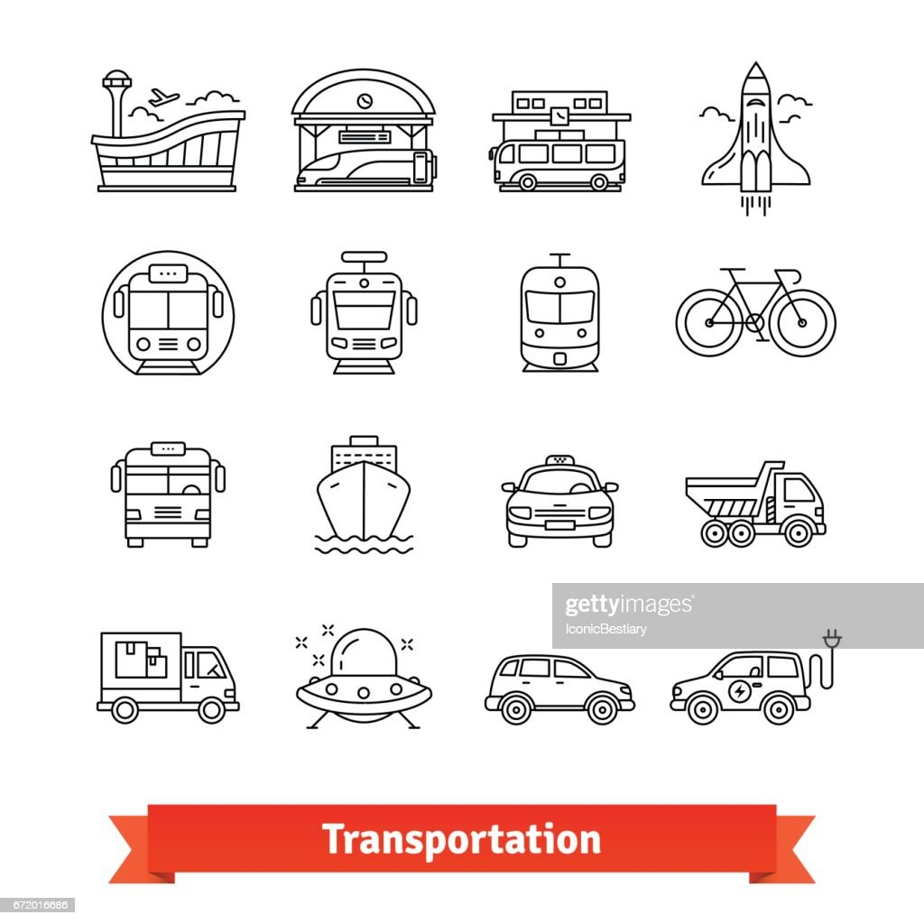 Modern transportation and urban infrastructure set