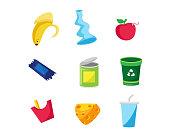 Modern Trash Object Illustration