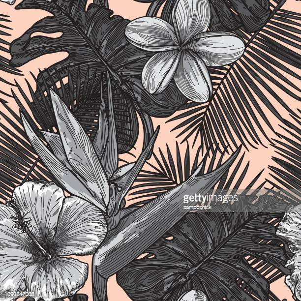 Patrón Floral Tropical moderno