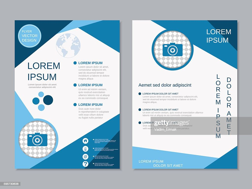 modern twosided professional flyer template vector art getty images