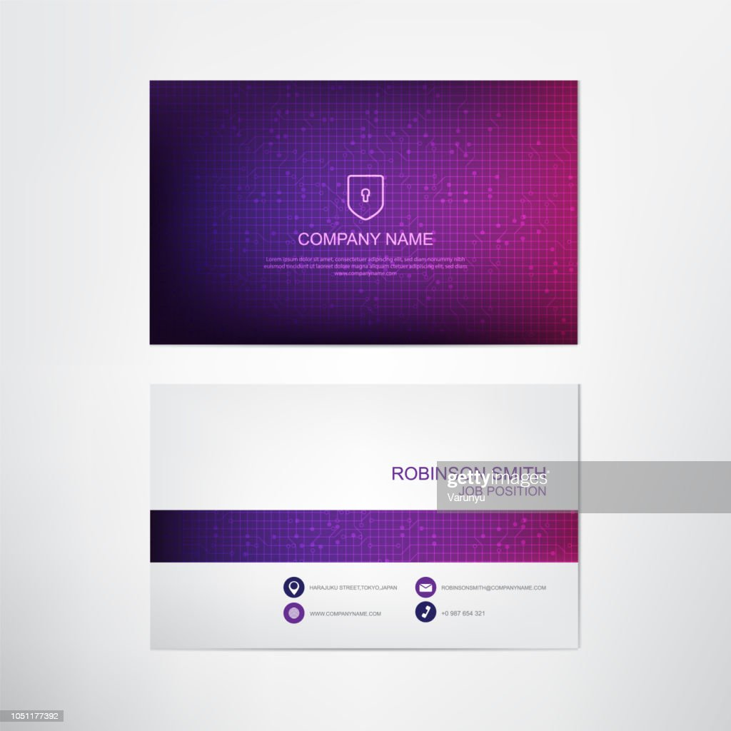 Modern Ultra violet Business card template,contact and company card design,vector.