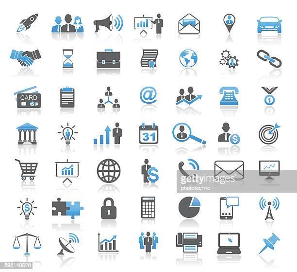 modernes universal business concept icon set - business finance and industry stock-grafiken, -clipart, -cartoons und -symbole