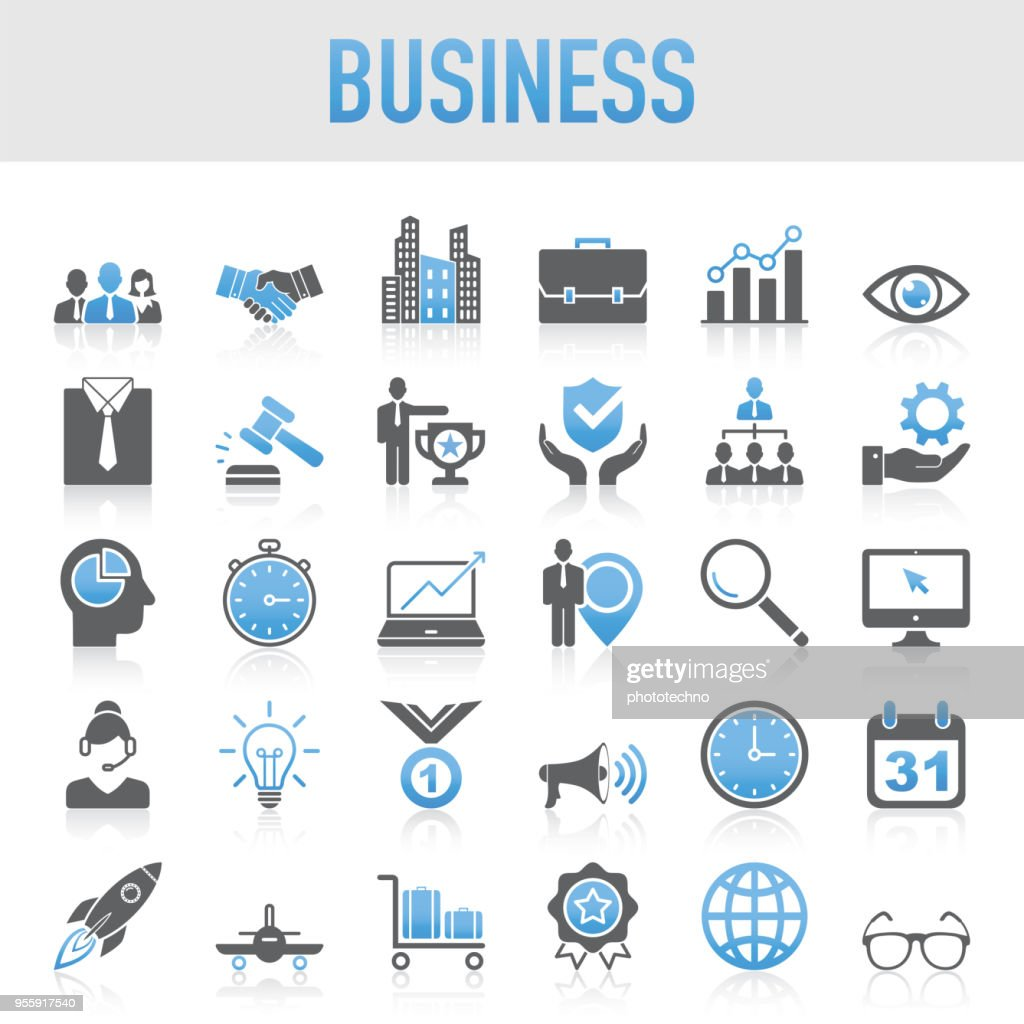 Modern Universal Business Icon Set