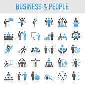 Modern Universal Business & People Icon Set