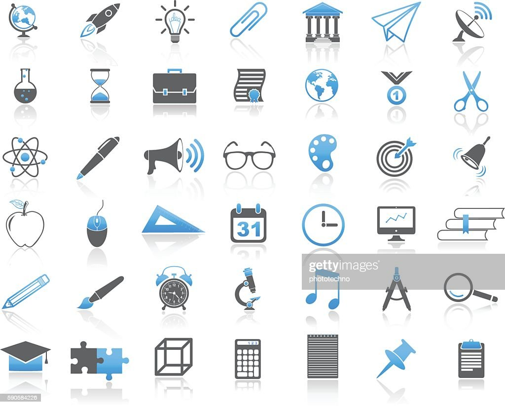 Modern Universal Education Concept Icon Set