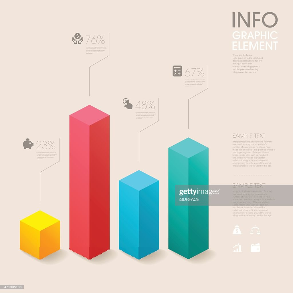 modern vector abstract bar chart infographic elements.