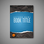 Modern Vector abstract blue book cover template