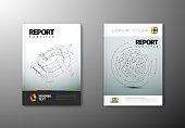 Modern Vector abstract brochure template