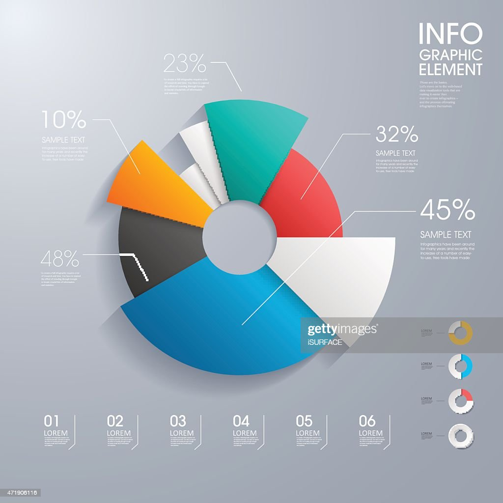Modern vector abstract pie chart infographic