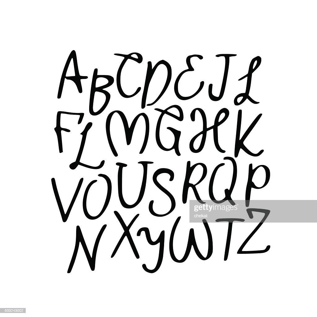 Modern Vector Alphabet. Font