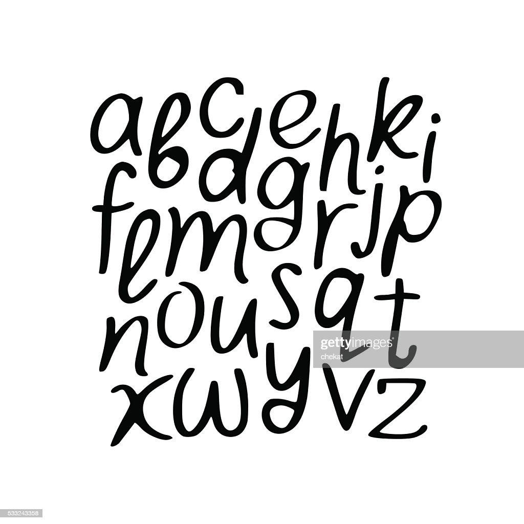Modern Vector Alphabet. Font.