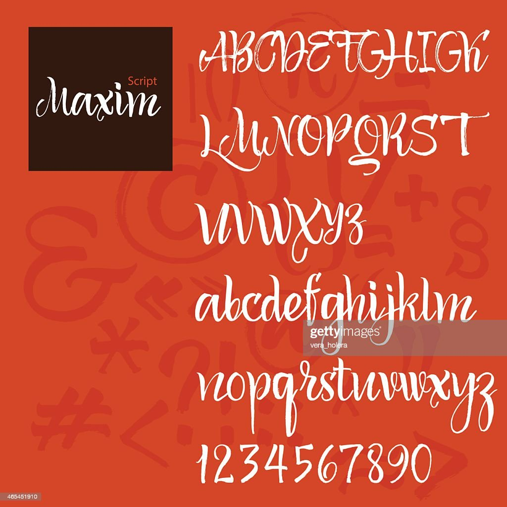 Modern Vector Alphabet