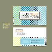 modern vector business card set