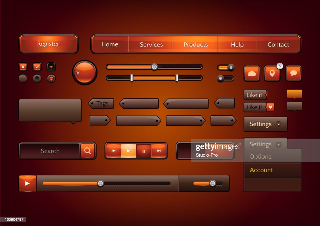 Modern vector collection of web elements for your multimedia projects.
