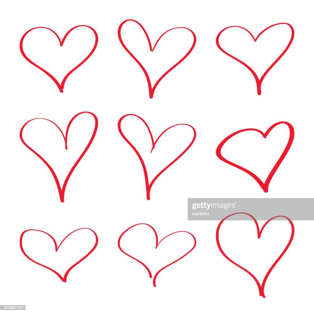 Modern vector heart.