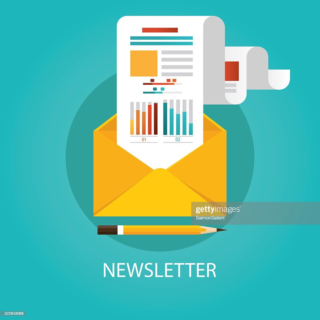 Modern vector illustration of newsletter