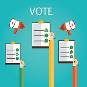 Modern vector illustration of vote,