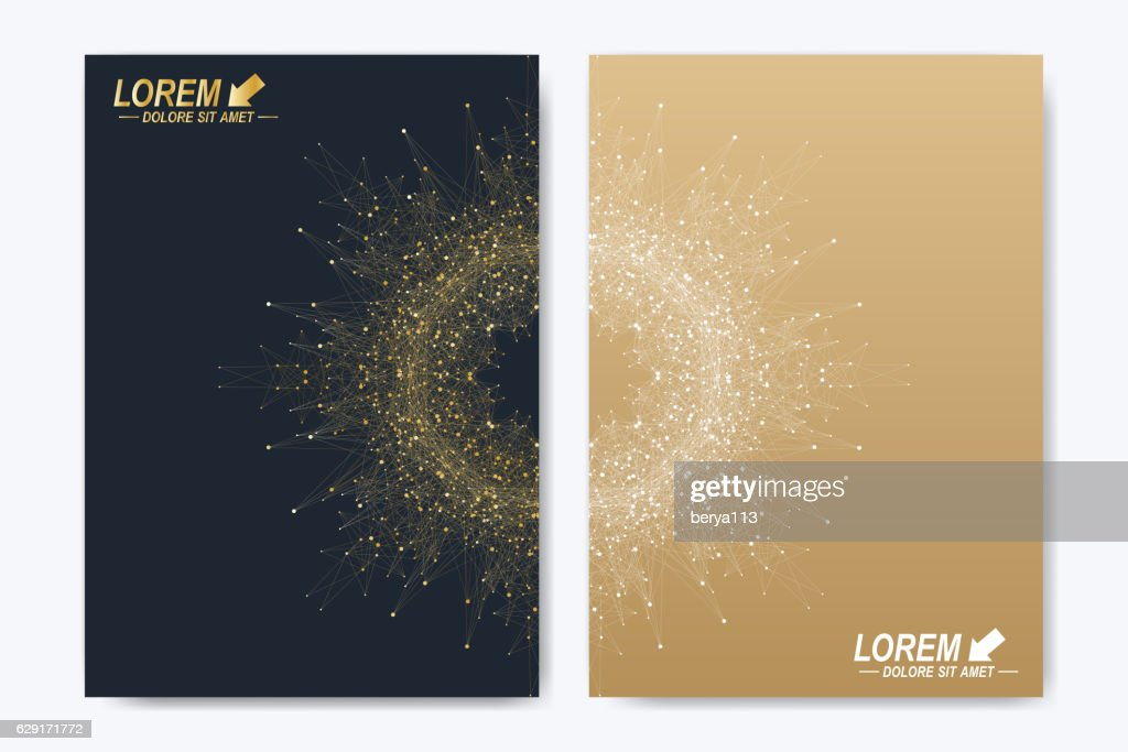 Modern vector template for brochure, leaflet, flyer, cover, magazine or