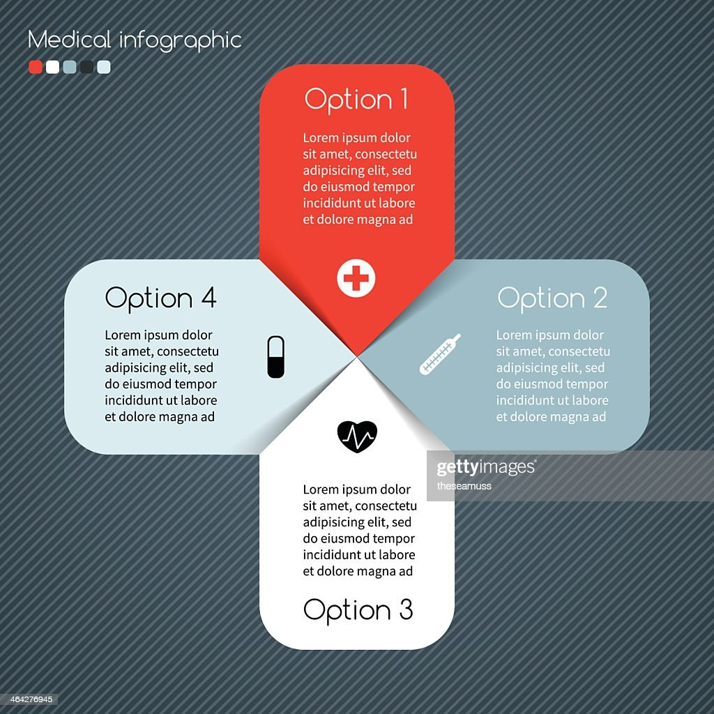 Modern vector template for medical infographics