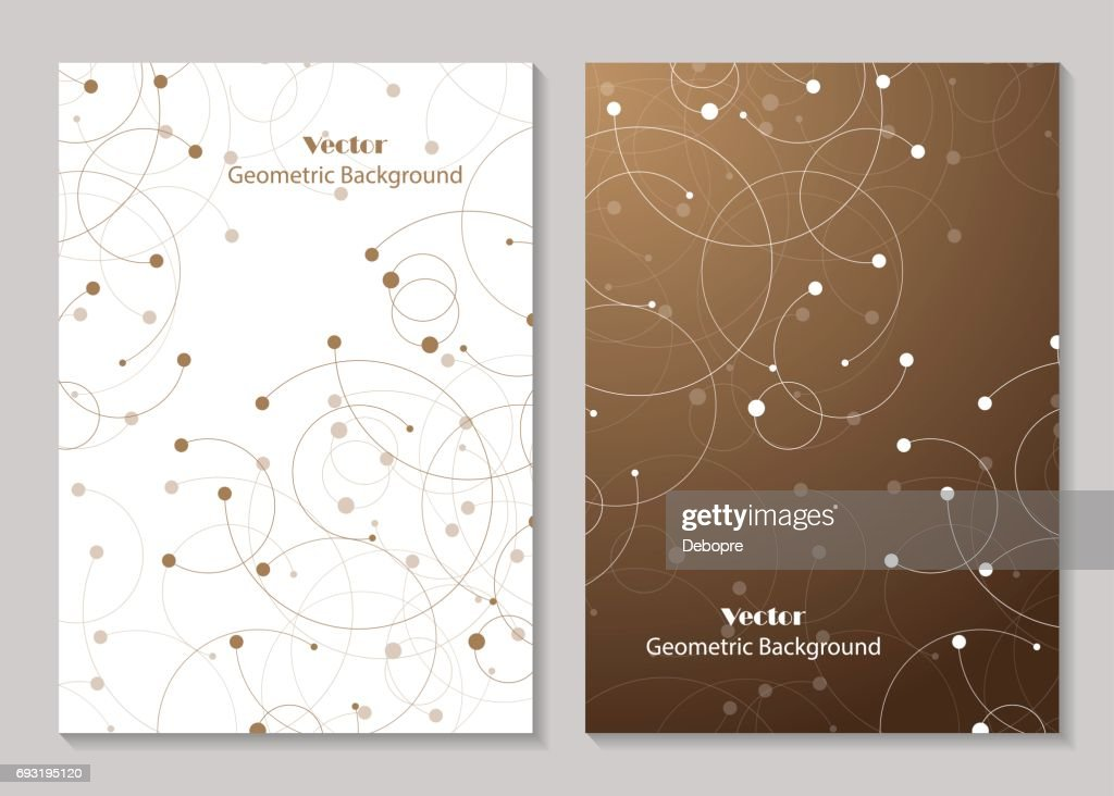 Modern vector templates for brochure cover
