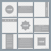Modern vector templates for square brochure, cover, layout, card or