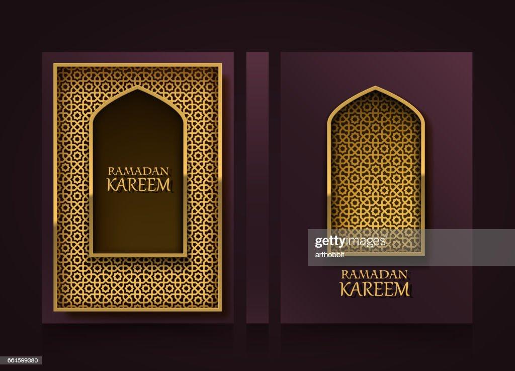 Modern vertical banners, Ramadan Kareem cover,  mubarak flyer background, template design element, Vector illustration
