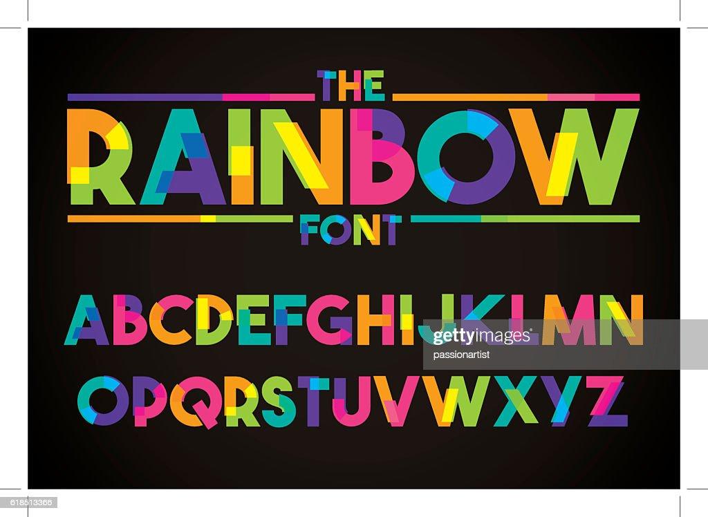 Modern vibrant typography