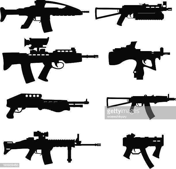 modern weapon vector - special forces stock illustrations, clip art, cartoons, & icons