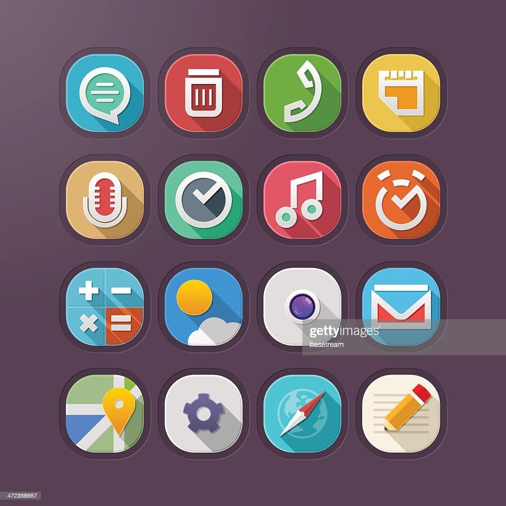 Modern Web Icons - Illustration