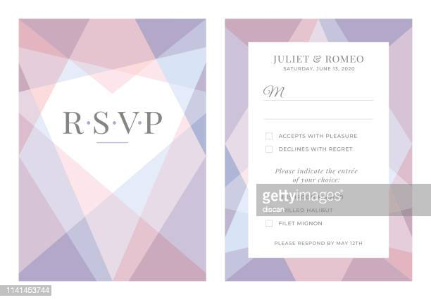 modern wedding template - rsvp. - gift tag note stock illustrations, clip art, cartoons, & icons