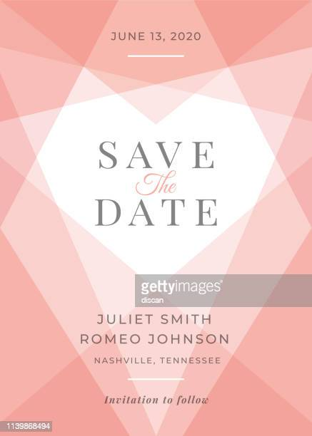 modern wedding template - save the date. - gift tag note stock illustrations, clip art, cartoons, & icons