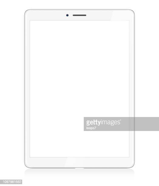 modern white digital tablet - vertical stock illustrations