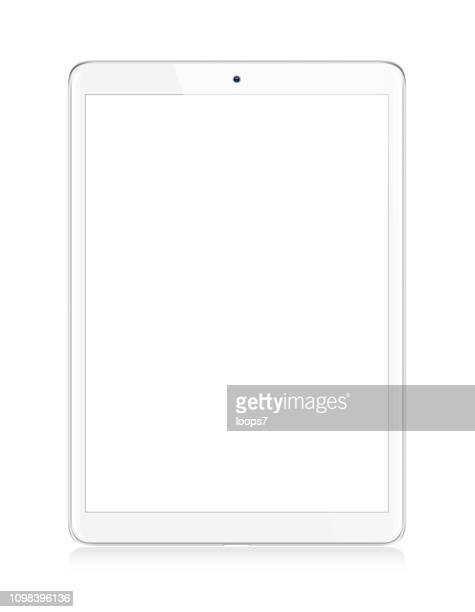 modern white digital tablet - vertical stock illustrations