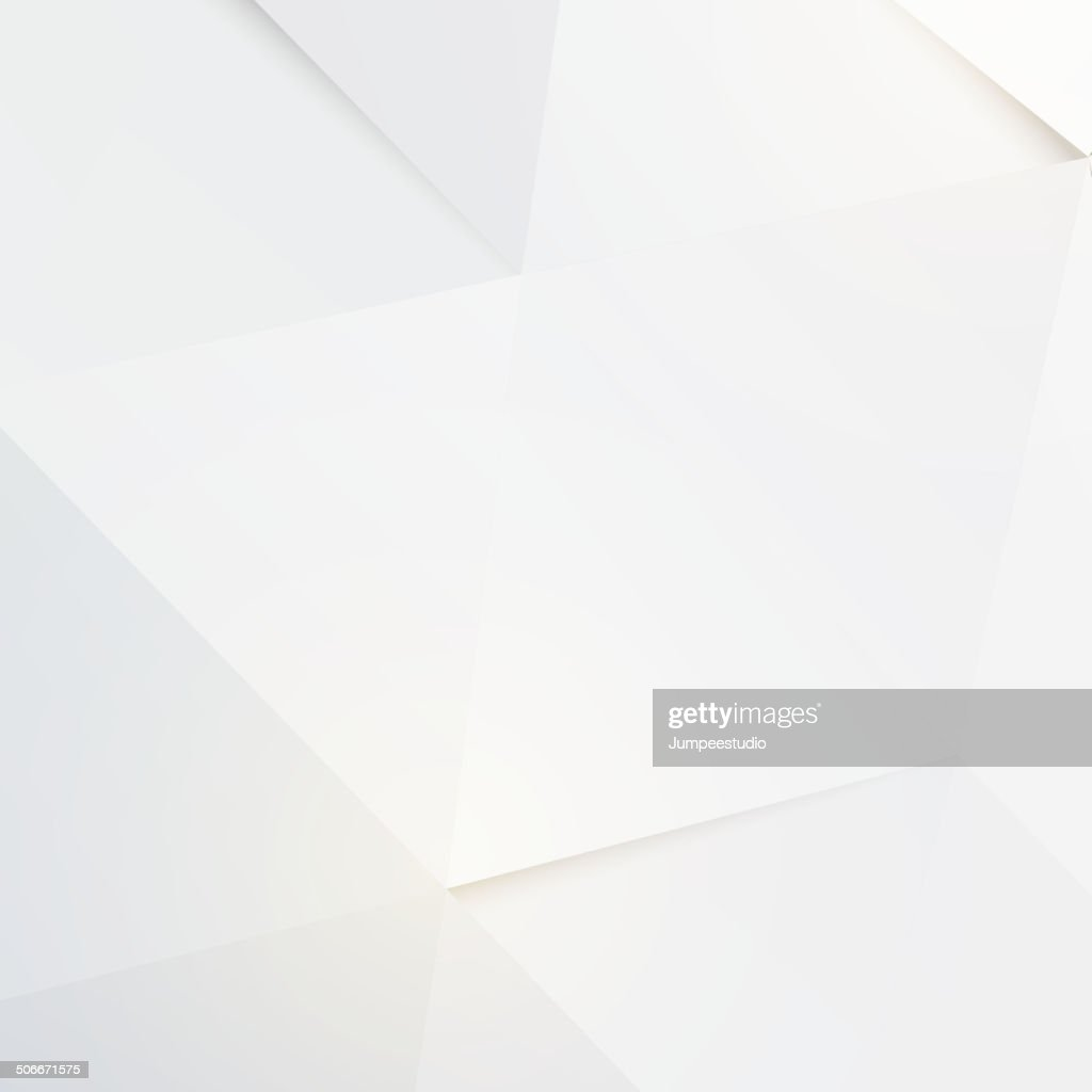Modern white polygon background, vector illustration